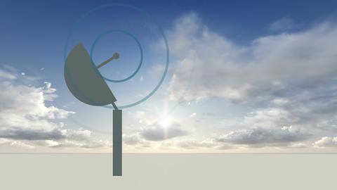 rotating Radio telescope Animation