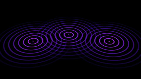 3 circles or radio waves radiating out from the center Animation
