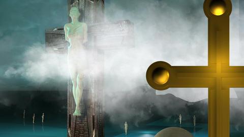 Figure of Crucifixion Animation