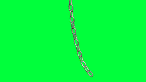 metal chain swing isolated on green screen Animation