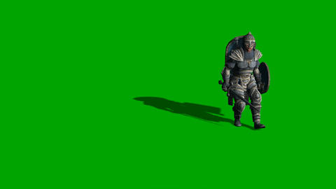 medieval knight fighting with swords and shield Animation