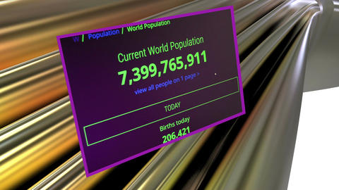Counting world population Animation