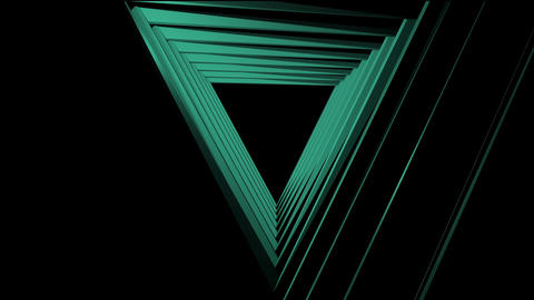 concentric simple triangles tunnel Animation