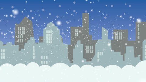 The city in the winter during the day Stock Video Footage