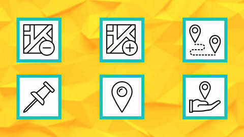 Location Pin Icons After Effects Template