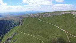 Caraiman Peak, aerial view, Romania Footage