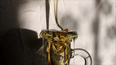 Honey poured into bottle Footage