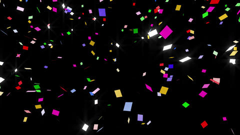 Confetti SQ 1 LU Fix 6XcB L 4k CG動画素材