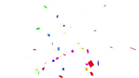 Confetti SQ 1 Slant Fix 1XcW 4k CG動画素材