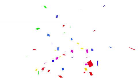 Confetti SQ 1 Slant Fix 1XcW L 4k CG動画素材