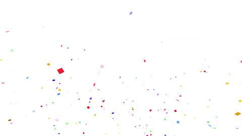 Confetti SQ 1 Slant Fix 2LcW 4k CG動画素材