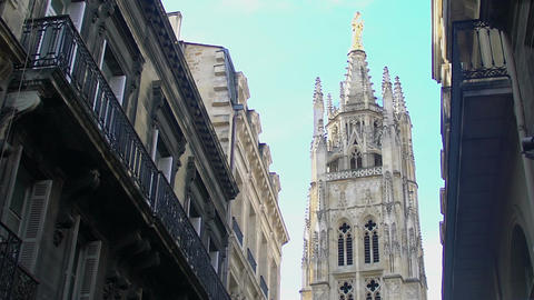 Bordeaux Cathedral in France, panorama of famous tourist attraction, sightseeing Live Action