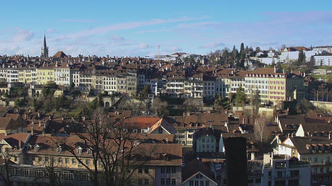 Old city of Bern panorama, tourist attraction in Switzerland, UNESCO heritage Footage