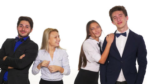 Young and successful business team smiling and having a funny moment together Footage