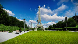 Wonderful view Eiffel Tower in Paris, panning 画像