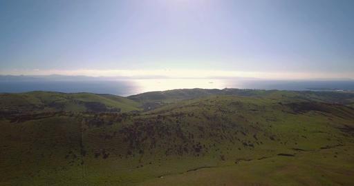 Aerial, Parque Natural Del Estrecho, Tarifa, Spain Footage