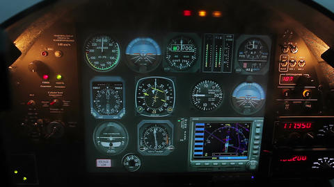 Smoke filling flight simulator cabin, computer software imitating accident Footage
