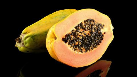 Fresh and tasty papaya Footage