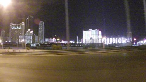 LAS VEGAS, NEVADA - CIRCA APRIL 2015: Driving car in traffic on streets of Las V Footage
