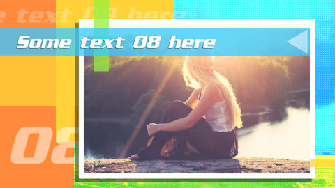 Colorful Slide Show After Effects Template