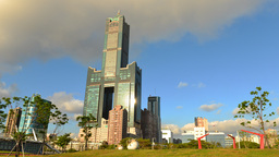 view of the city in Kaohsiung - Taiwan - Time Lapse Footage