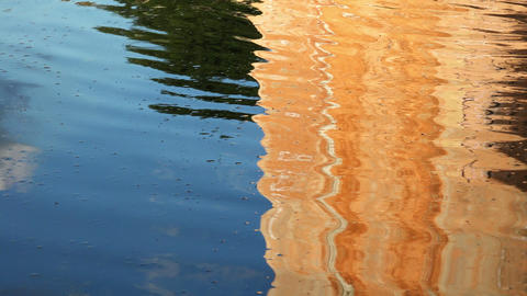 Reflection On The Water In The Basin Of A Monumental Italian Fountain stock footage