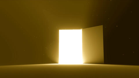 Door open to bright light new opportunity epiphany afterlife 4K Live Action
