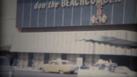 1965: Legendary Don the Beachcomber bar lounge downtown Footage