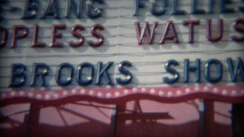1965: Marquee of Wild topless Watusi, Ice She-Bang Follies, Donnie Brooks Show Footage