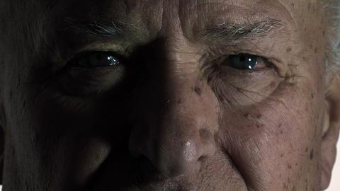 old man closeup footage: portrait of an elderly wrinkled man Footage