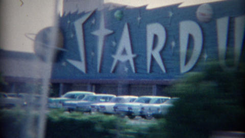 1965: Stardust Hotel Casino drive by marquee signage Don Cornell Live Action