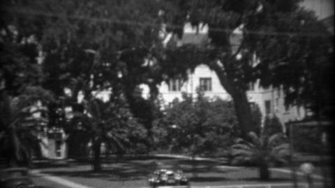 1934: Wealthy southern gulf coast tropical palm tree paradise excess showcased Footage