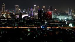 Timelapse of traffic with skyline,Bangkok,Thailand Footage