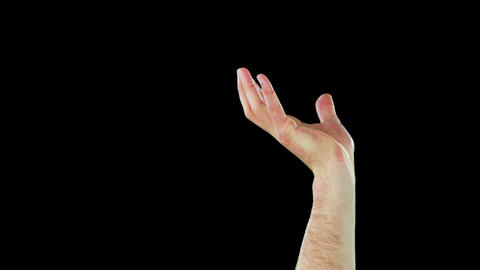 Close-up of hands gesturing Footage