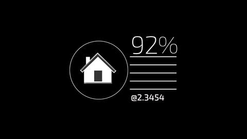White Flat Corporate Infographic Element With Alpha Channel Animation