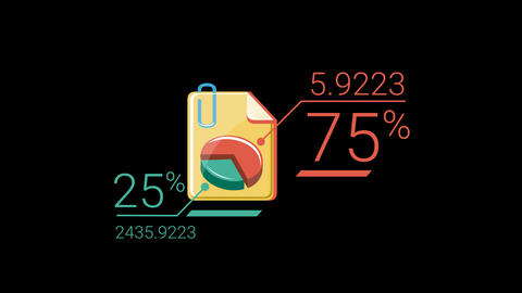 Color Flat Corporate Infographic Element With Alpha Channel Animation