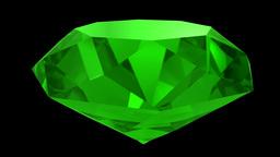 Emerald green gemstone gem stone spinning wedding background loop 4K Footage