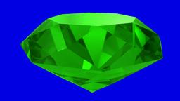 Emerald Green Gemstone Gem Stone Spinning Wedding Background Loop 4K stock footage