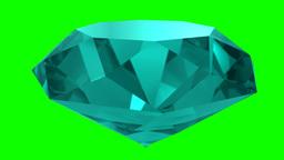 Sapphire topaz turquoise gemstone gem stone spinning wedding background loop 4K Footage