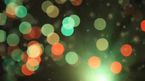 Lights and Particles Background Live Action