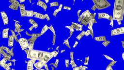 Money Falling Dollars Financial Win US Currency Tax Make It Rain 4k Footage