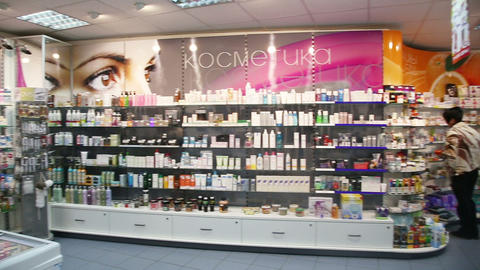 Drugstore,cosmetics And Healthcare Interior stock footage
