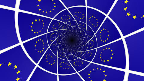 Flag of European Union Animation