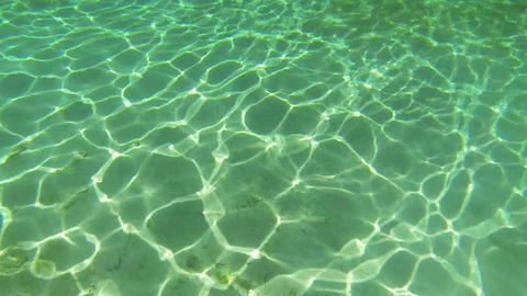 Rays of Sun on sea floor Footage