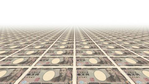 Ten thousand yen bills Animation