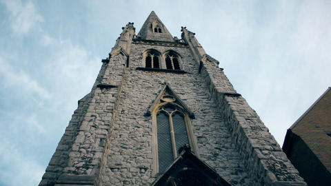The tower of the old church Footage