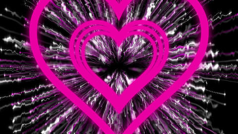 Collision Pink-White Heart CG動画素材