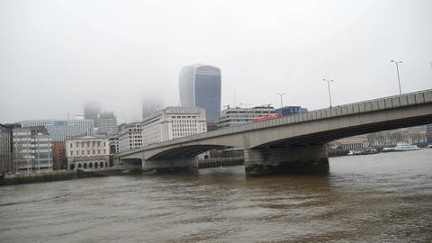 Bridge on the River Thames Footage