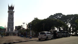Big Clock or Jam Gadang, a landmark of Bukittinggi, West Sumatera Footage