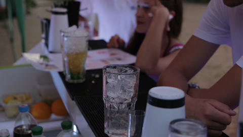 Cocktail With Ice Footage